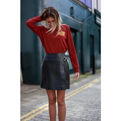 DOVE LEATHER SKIRT Image