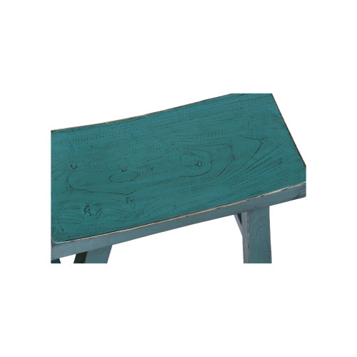 Rectangular Chinese Stool in Teal Image