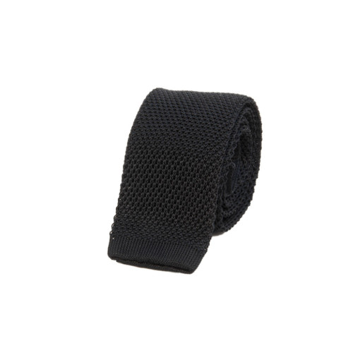 SOLID SILK KNITTED TIE Image