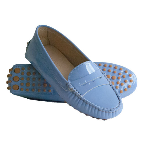 Baby Blue Patent Leather Driving shoe Image