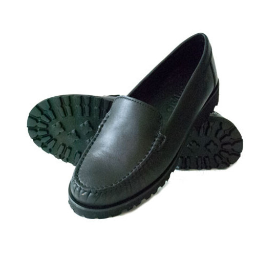 Black Leather Loafer with  Vibram Sole Image