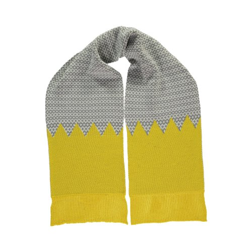 Yellow graphic scarf by Miss Pompom Image