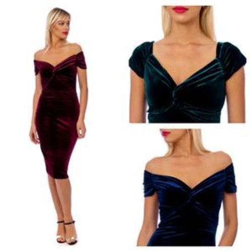 Velvet Midi Dress Image