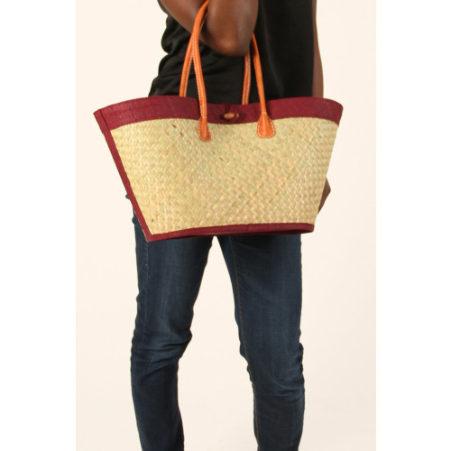 Raffia Woven Basket - Colour Options Available Image