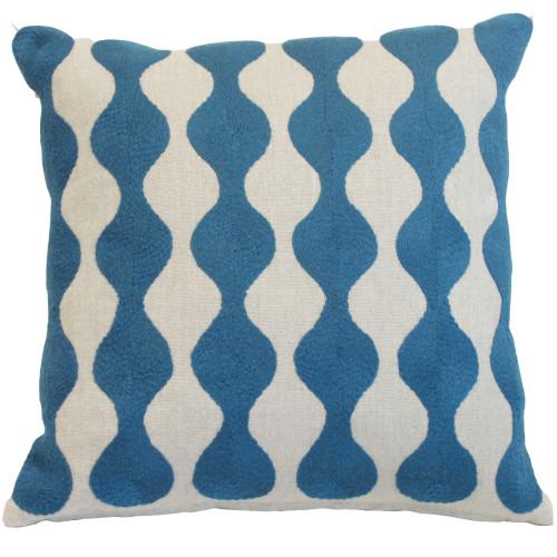 Bobble - Blue, Natural Linen Image