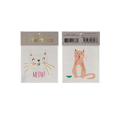 Cat and Meow tattoos Image
