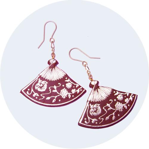 Deco Fan Earrings Image
