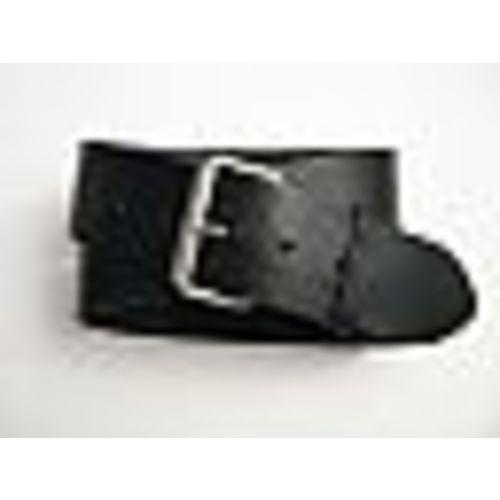 2 inch leather belt Black Image