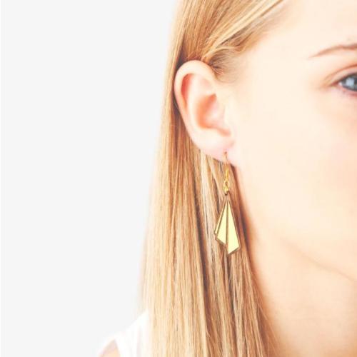Art Deco Earrings Huitre Drop Cobalt Image