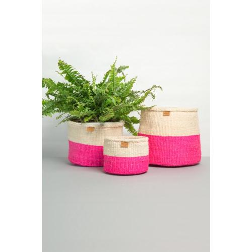 Sisal Storage Basket: Pink Medium Image