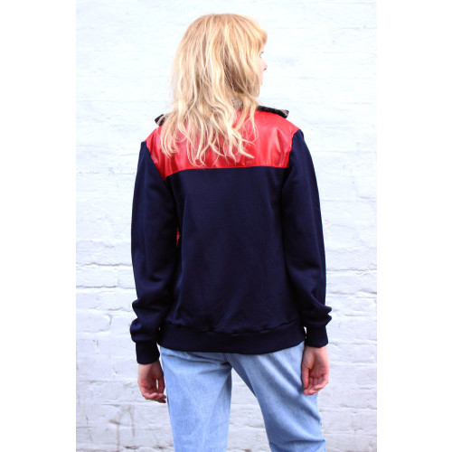 Vintage Puma Red & Navy Sports Track Top Image