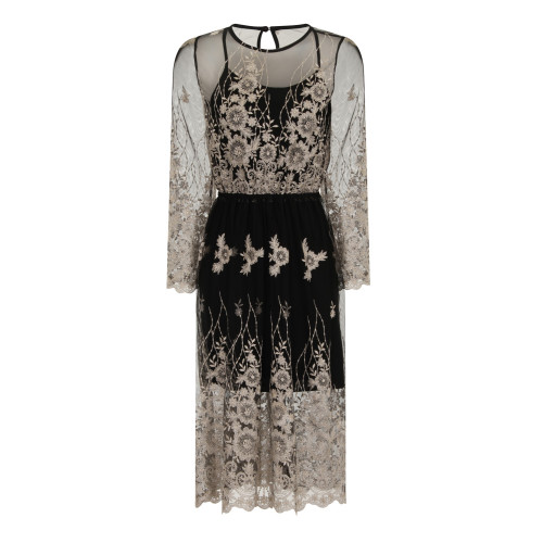 MIDNIGHT SHEER EMBROIDERY DRESS Image