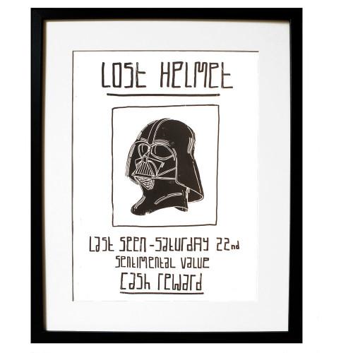 Lost Helmet A3 Giclée Print Image