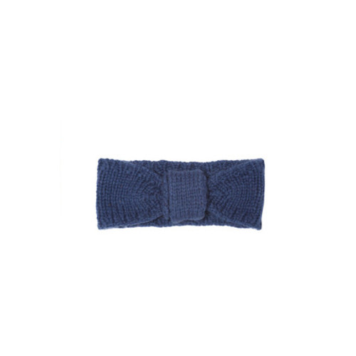 French Navy Virgin Wool Turban Headband by Lowie Image