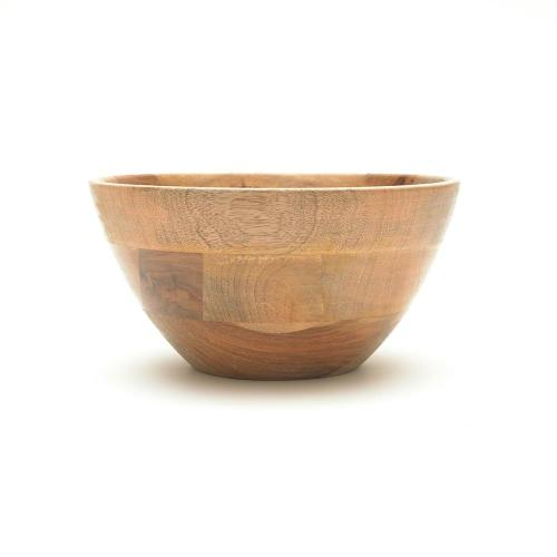 Mango Wood Indus Medium Salad Bowl from Nkuku Image