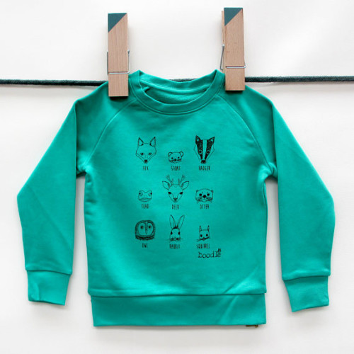 Animal Faces Kid's Sweater Image