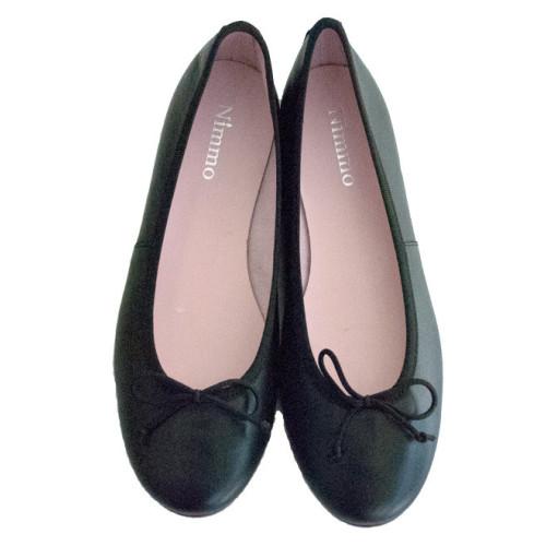 Black Leather Ballerina Image