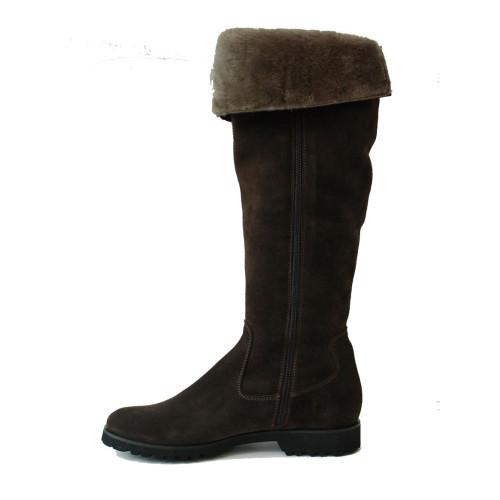 Dark Brown  Over Knee Suede Boot Image
