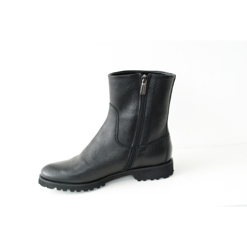 Black Leather Ankle Boots Image
