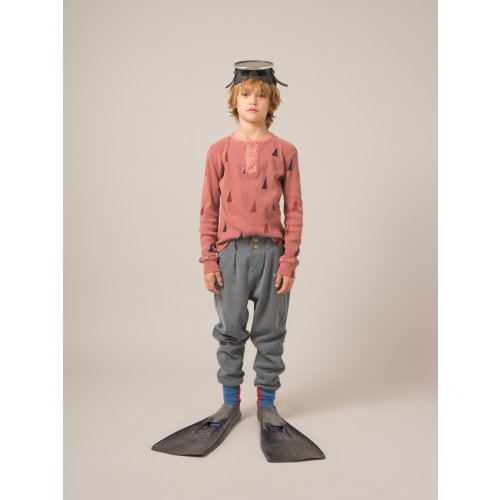 Bobo Choses Button Trousers in Dark Slate Image