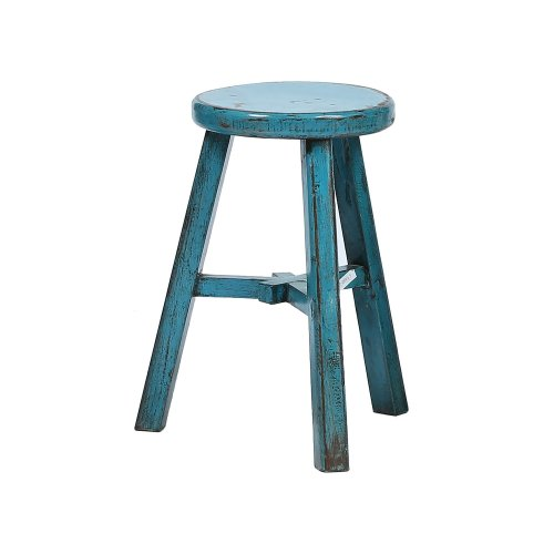 Round Chinese Stool in Teal Image