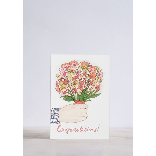 Congratulations Flower Bunch Greeting Card Image