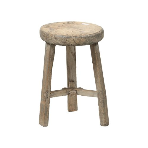 Rustic Wooden Chinese Stool - Round No 1 Image