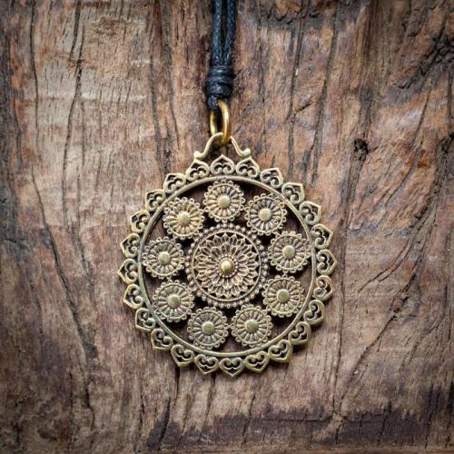Brass Mandala Pendant Image