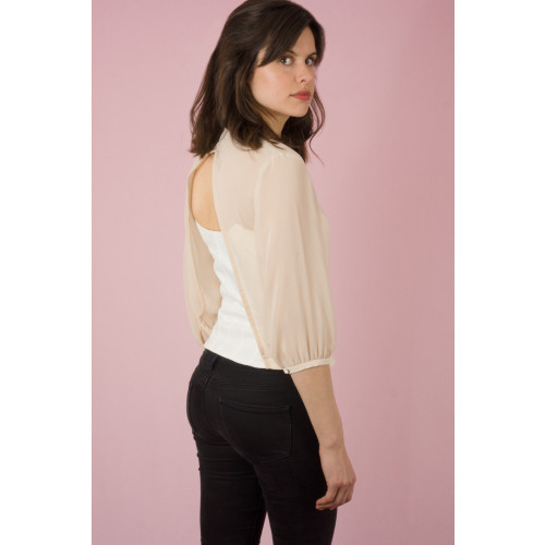 bustier sleeved top Image