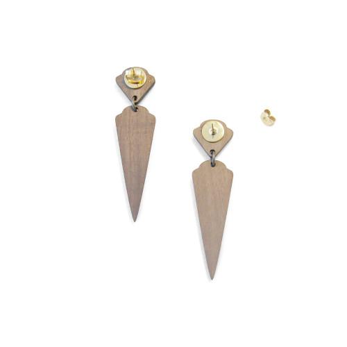 Art Deco Earrings Diamant Earrings Teal Image