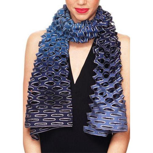 'Tanabata' ombre silk scarf - blue nocturne Image
