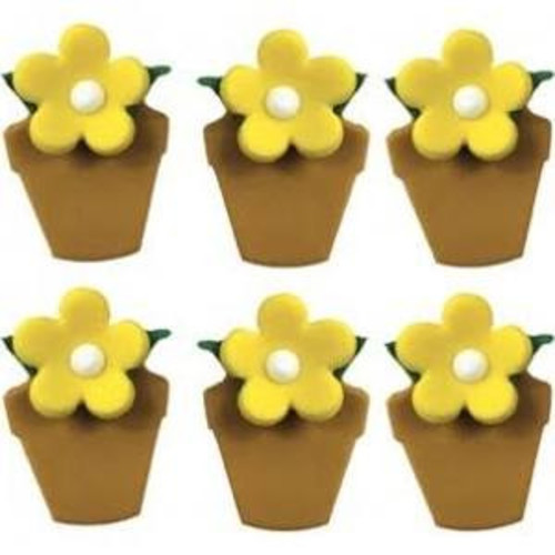 Flowerpot Sugarcraft Toppers Image