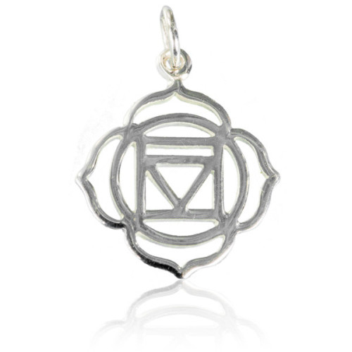 Root Chakra Silver Charm Pendant Image