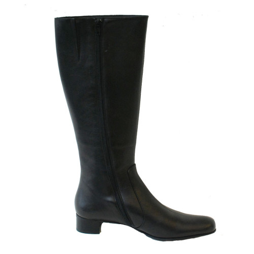 Black Leather Long Boot Image