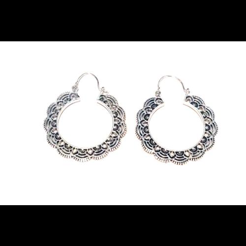 Floral Hoop Earrings Image