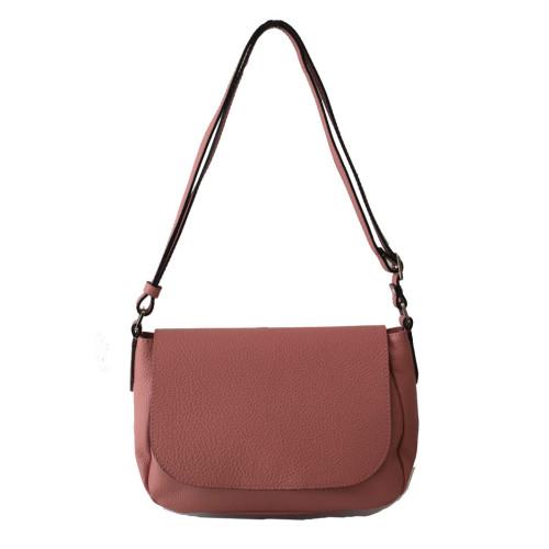 New Soft Nude Leather  Shoulder Bag Image