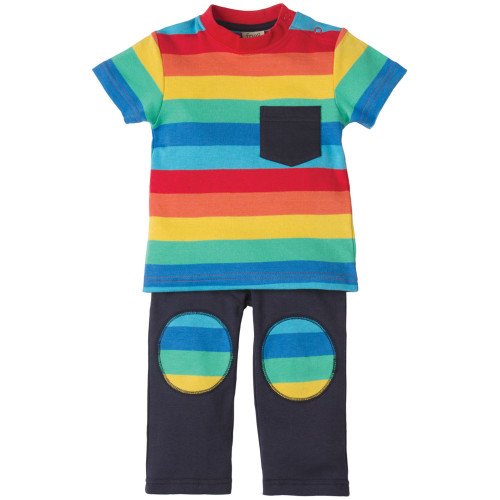 T-Shirt & Trousers - Play Days Outfit - Rainbow Image