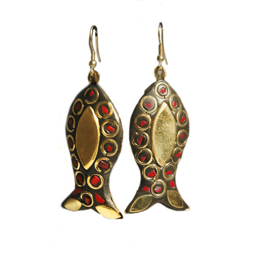 Fish Drop Earrings Image