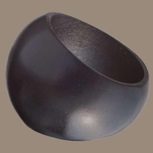 Black Wood Rounded Ring Image