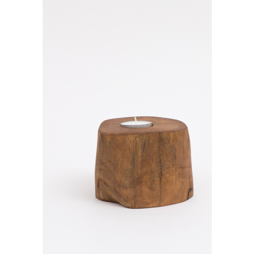 Natural Wooden Tealight Holder Set Image