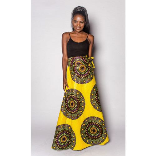 Bani - Wrap Maxi Skirt - Women's Image
