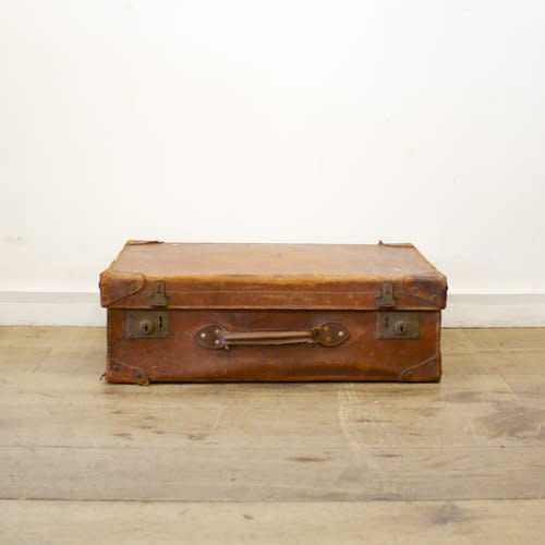 Leather suitcase Image