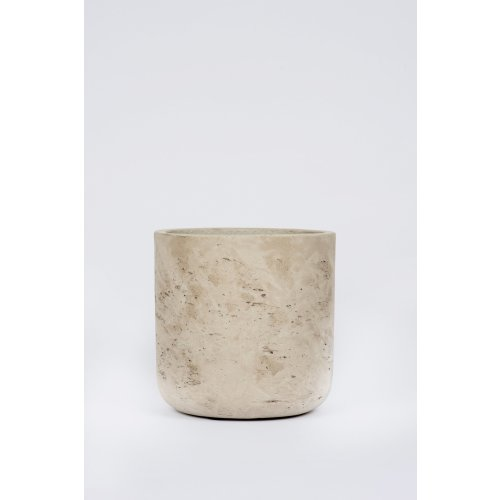 Straight Cement Pot Stone: Large Image