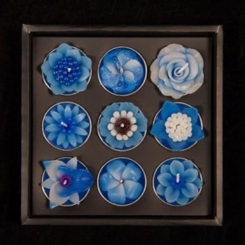 Blue Floral Confectioners Tea Lights Image