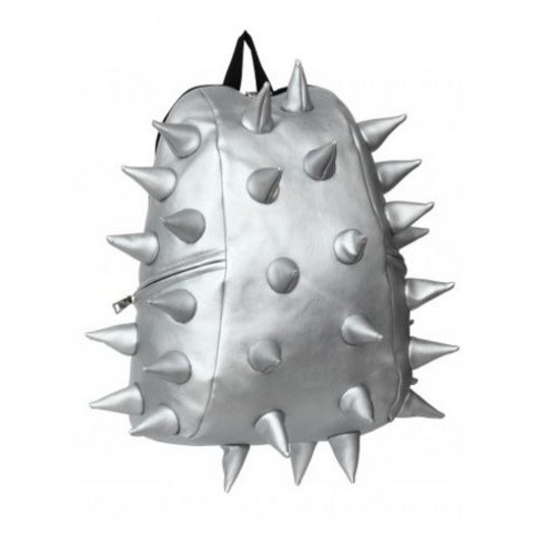 Madpax Spiketus backpack in metallic silver Image