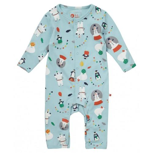Footless Romper - Arctic Animal Image
