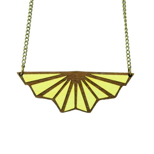 Art Deco Necklace Toile de Fond Lemon Image