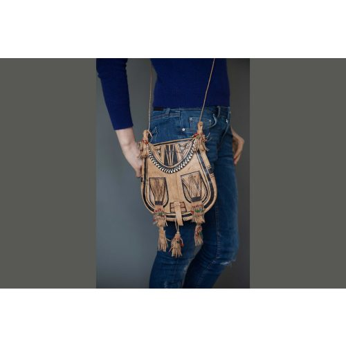 MALI LEATHER FRINGED BAG Image
