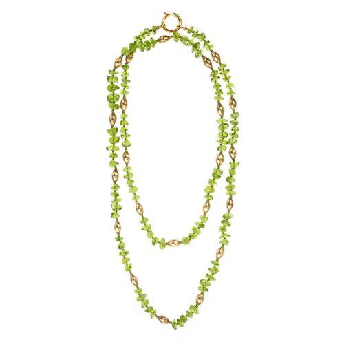 Long Peridot Necklace Image