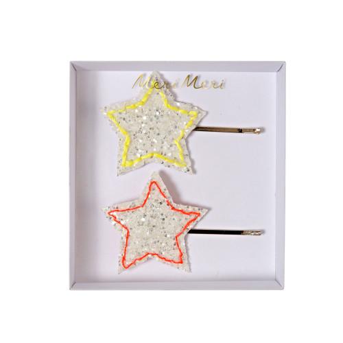Glitter star hairpins Image